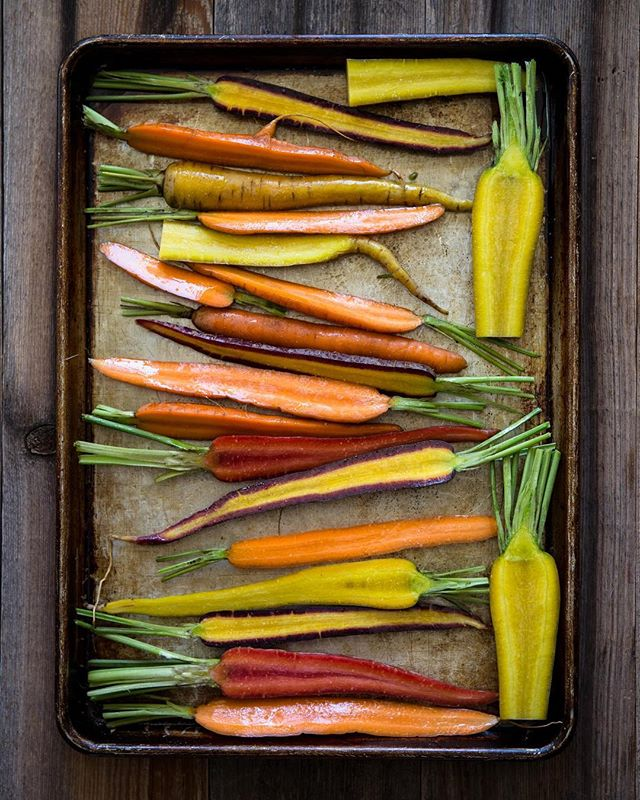 """Good food is very often, even most often, simple food."" @anthonybourdain #summerveggies #carrotsondeck #findyourtribe #mealtribes"