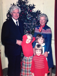 A Photo of Me and My Sisters and My Grandparents - I'm the taller girl in the red!