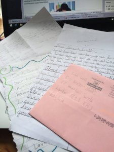 Some of the letters from my young readers