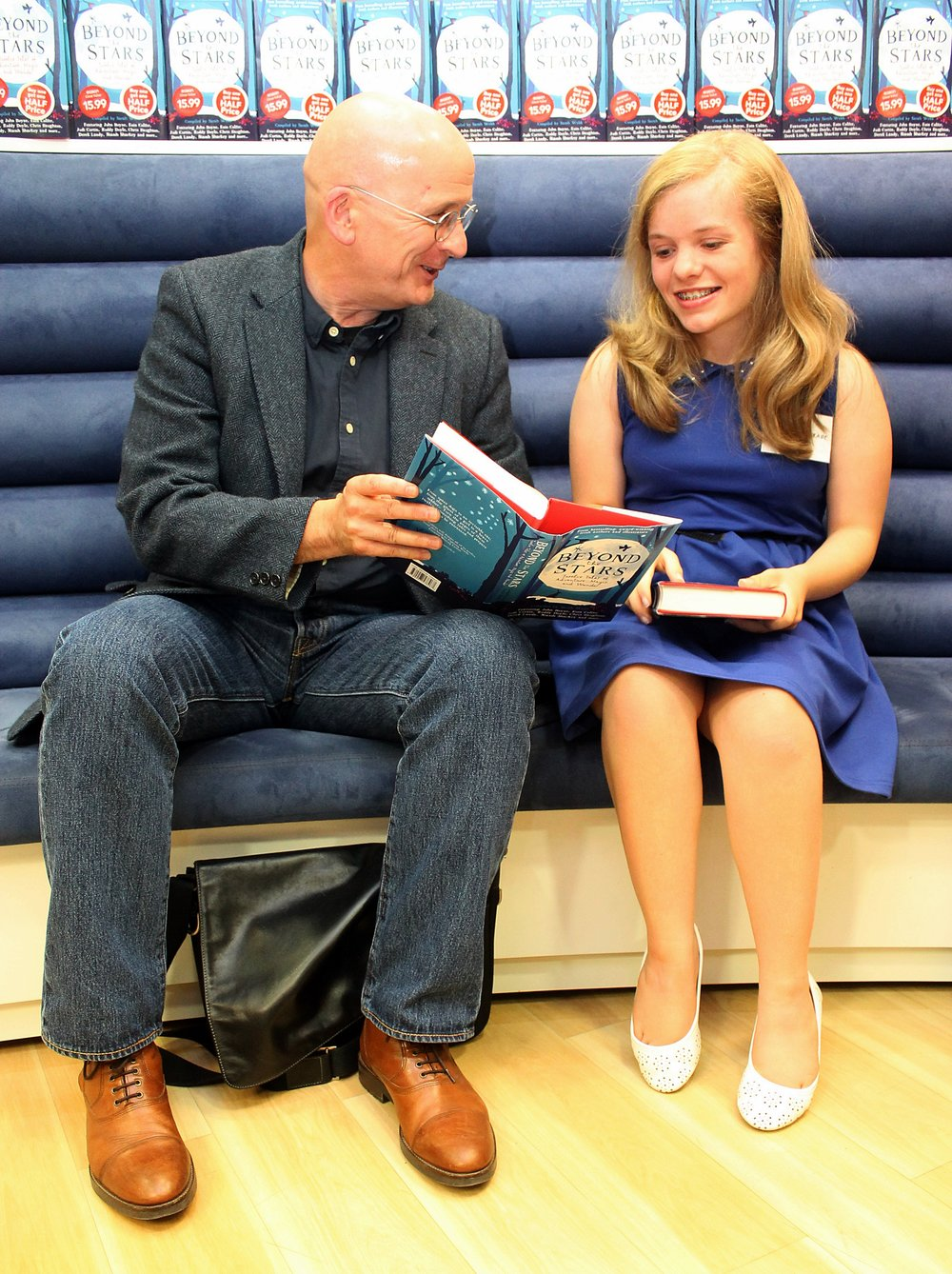 Beyond the Stars Launch - Roddy Doyle and Prize Winner, Emma Brade