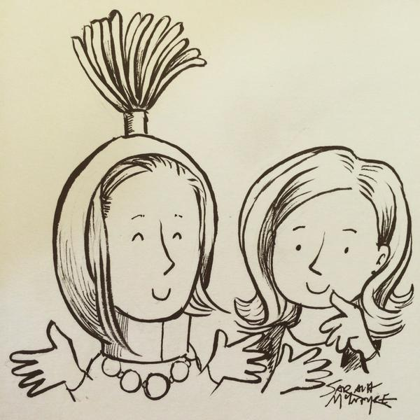 Me and Judi Curtin (by Sarah McIntyre)