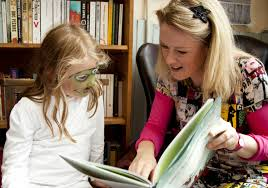 sarah reading to a child