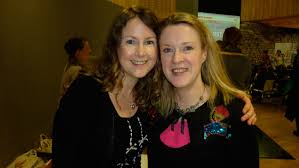 Sarah with Writer and Illustrator, Niamh Sharkey