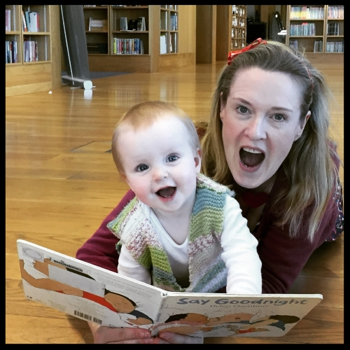 With my niece, Rosie at the Lexicon Library