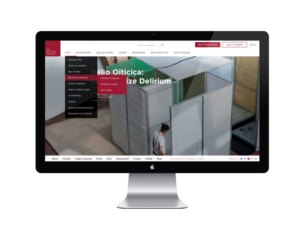 Website Redesign - Art Institute of Chicago