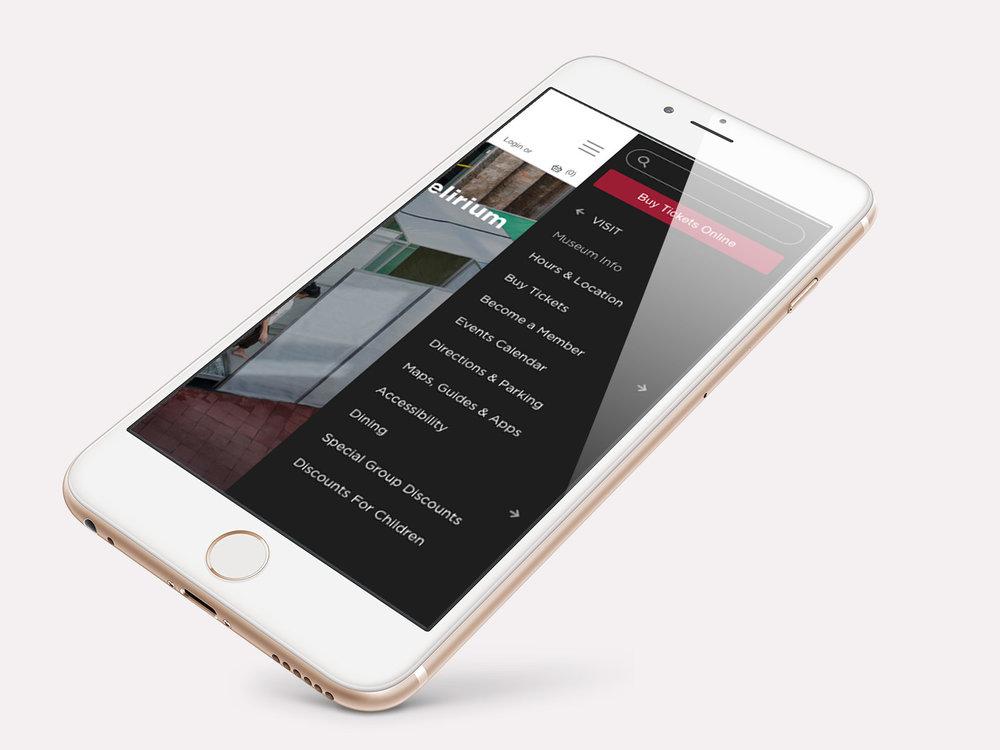 Mobile app menu