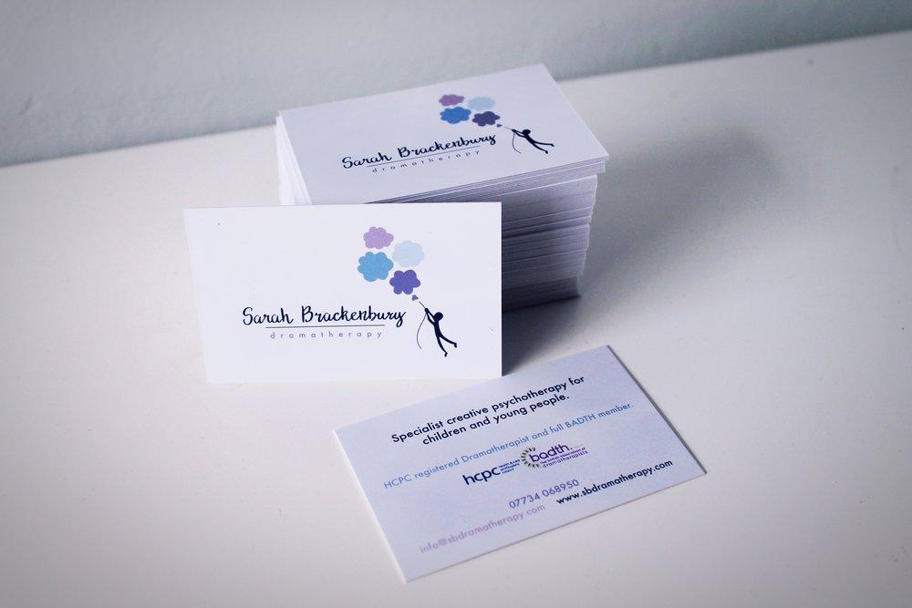 Business cards for Sarah Brackenbury! — Bekah Cohen