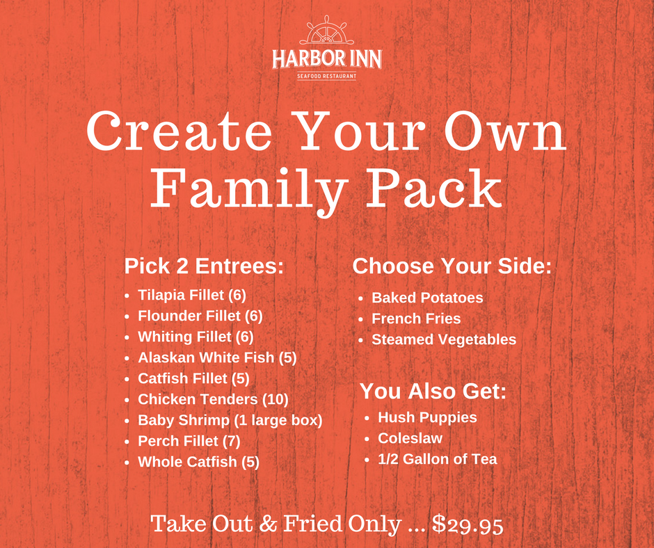 Order our Family Pack to go!  Call: 803-462-3498