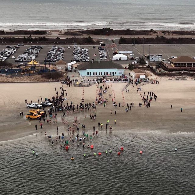 Today @roslyn_highlands_fire_co along with NCPD Marine and Aviation units watched over as swimmers from around Long Island participated in a Polar Plunge supporting the Special Olympics.