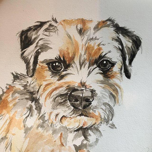 Meet Roo.  11.7x11.7 Watercolour