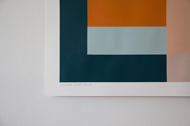 'Colour Study no.10'  Acrylic on fabriano pittura paper  Original painting  70cm x 100cm  Available online at annamac.com