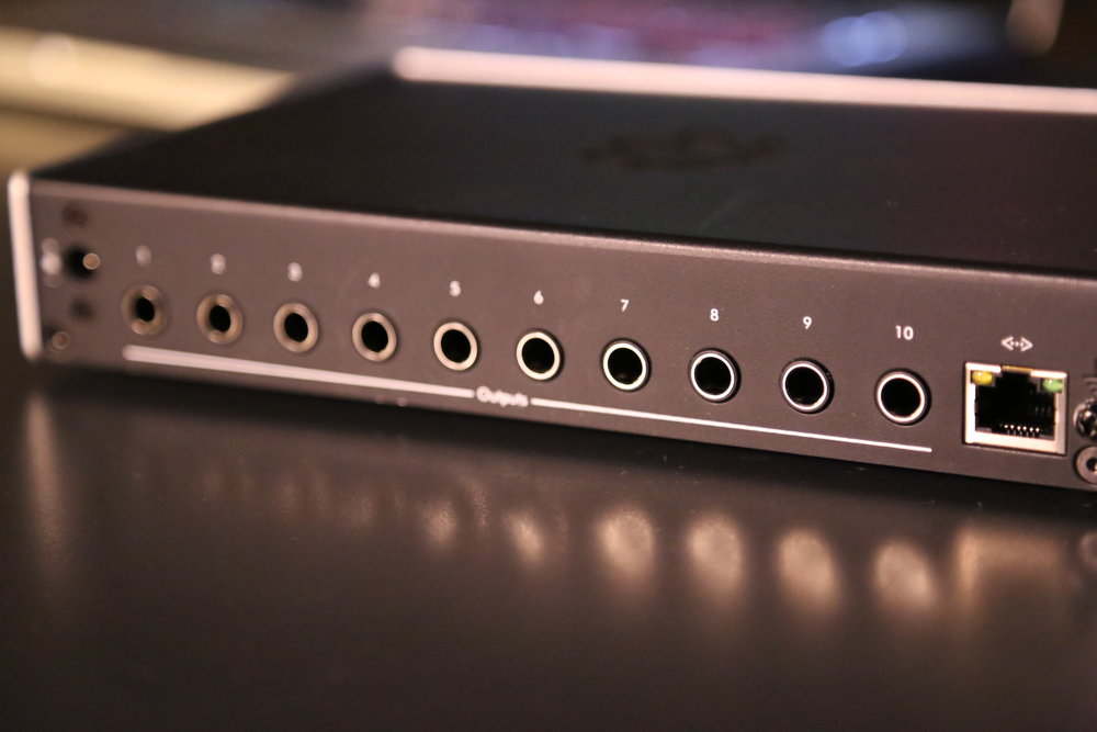 "10 1/4"" balanced outputs on the rear PlayAUDIO12 enable deep FOH control. MIDI ethernet provides the flexibility to put MIDI wherever you need it during your performance."