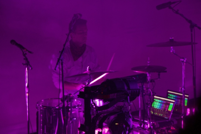 Andrew Marshall - Drummer with Billie Eilish using playback the modern way; employing two laptop computers and the iConnectivity PlayAUDIO12