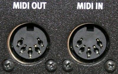 The original 5-Pin DIN-MIDI connection