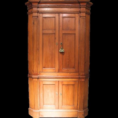 Federal Mid-Atlantic Pine Corner Cupboard - MIRABELLE ANTIQUES Antiques Charlottesville, VA— Federal Mid