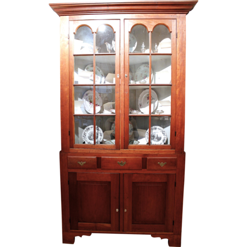 Pennsylvania Federal Cherry Corner Cupboard - MIRABELLE ANTIQUES Antiques Charlottesville, VA— Pennsylvania