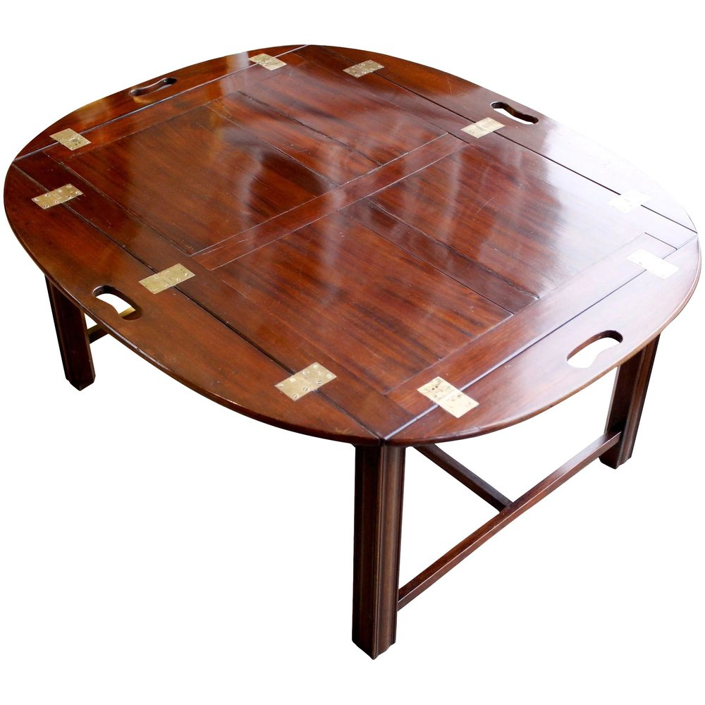 George III Period Mahogany Butleru0027s Tray Table Coffee Table