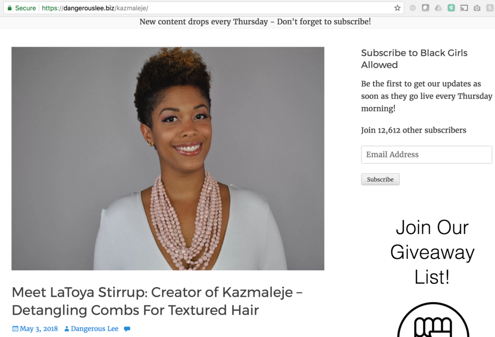 Forging My Path - LaToya shares her journey as an entrepreneur with Black Girls Allowed.