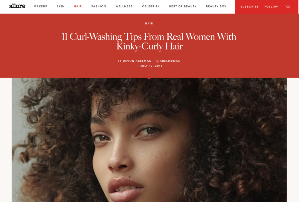 Wash Day Advice - The Stirrup Sisters share curl-washing tips and tricks along with other curly beauties on Allure.com.