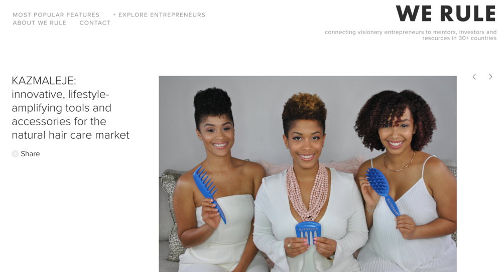 WE RULE - Our co-founder, LaToya, does a candid interview with We Rule on the inspiration behind KAZMALEJE.