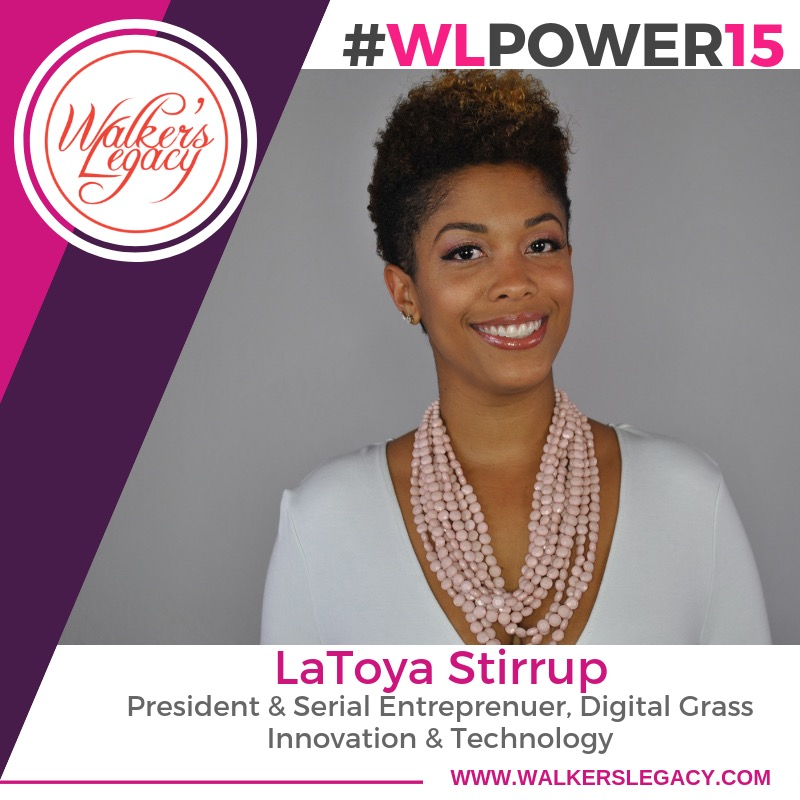 Walker's Legacy Power 15 - Congratulations to our co-founder, LaToya, on being named one of Walker's Legacy Power 15.