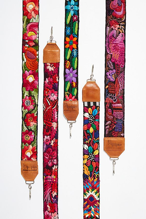 Leather Embroidery Camera Strap - Add boho-flair to your camera or bag!