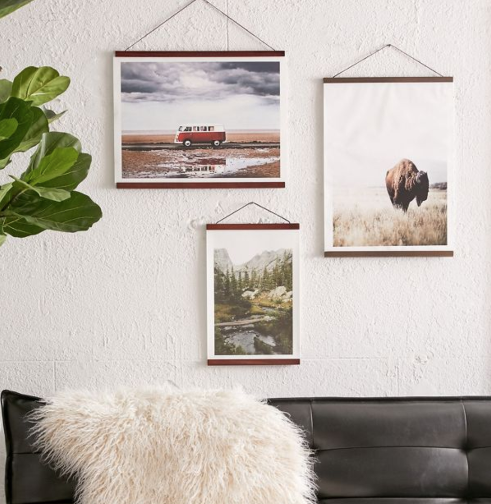 Wooden Print Dowel Hanger - Can be used on a variety of photo sizes.