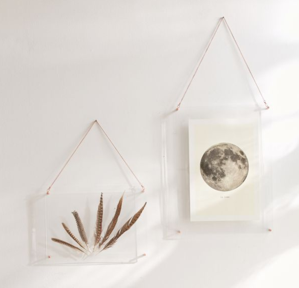 Acrylic Hanging Display Frame - Display your favorite artwork.