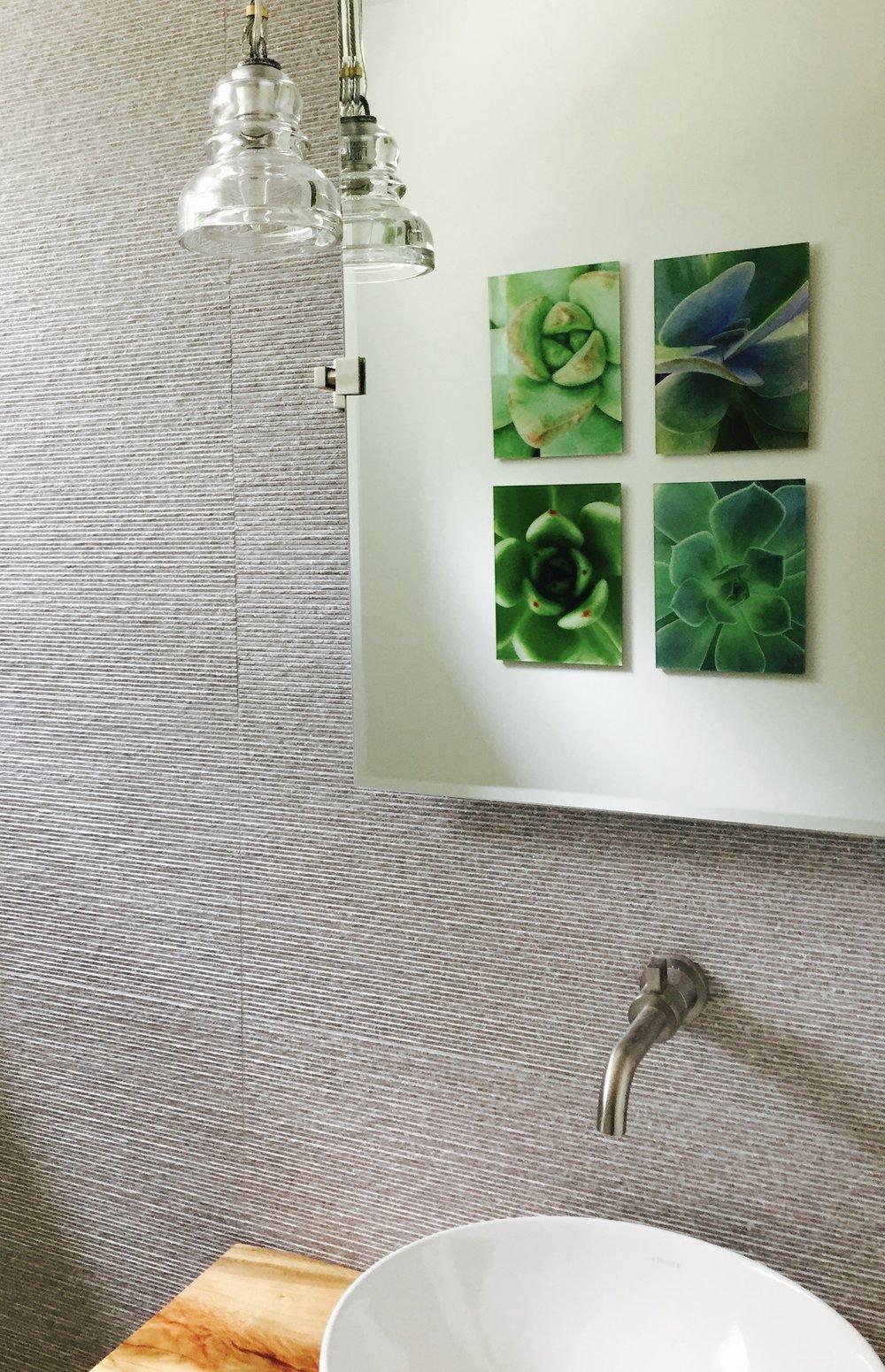 - Hi-Res Custom Color Digital Photographs embedded in Acrylic Resin Frameless wallboard. Titled