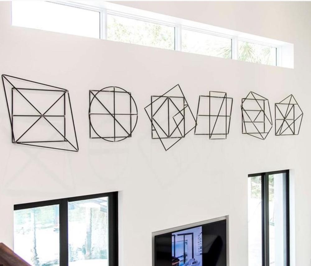 Welded Iron Geometrics Series of 6