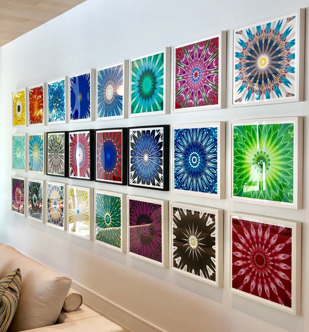 Kaleidoscope Wall Series:  (Set of 24) $8,995. / $450. ea