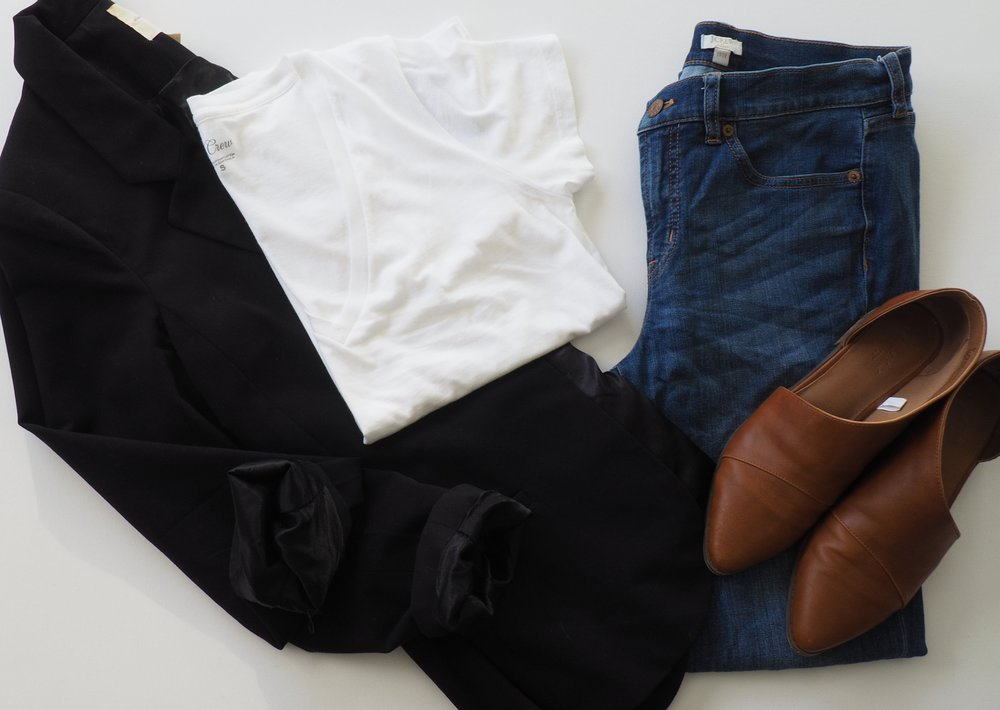 Blazer  (Similar)  |  T Shirt  |  Jeans  |  Booties
