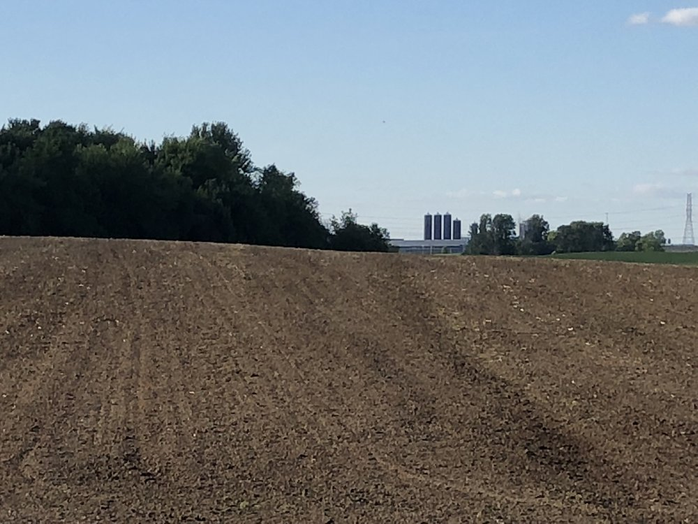 You can see the silos on the main farm 2 miles north.