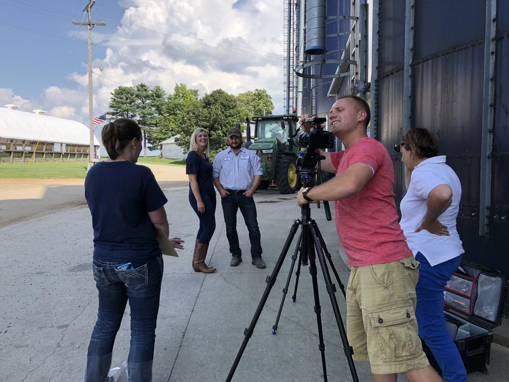 Then there was an interview. I do great on radio and behind the scenes so I passed this off to Son#2 and Daughter-in-law. Jolene was the expert at prying information out of him. Jane looking on while Dan is getting the camera ready.
