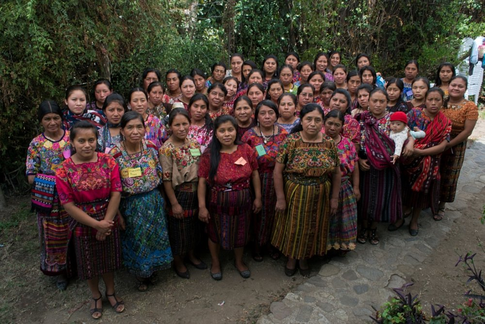 Multicolores Maya Women's Rug Hooking group in Guatemala.jpg
