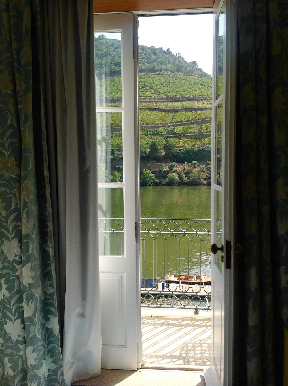 overlooking the douro river.