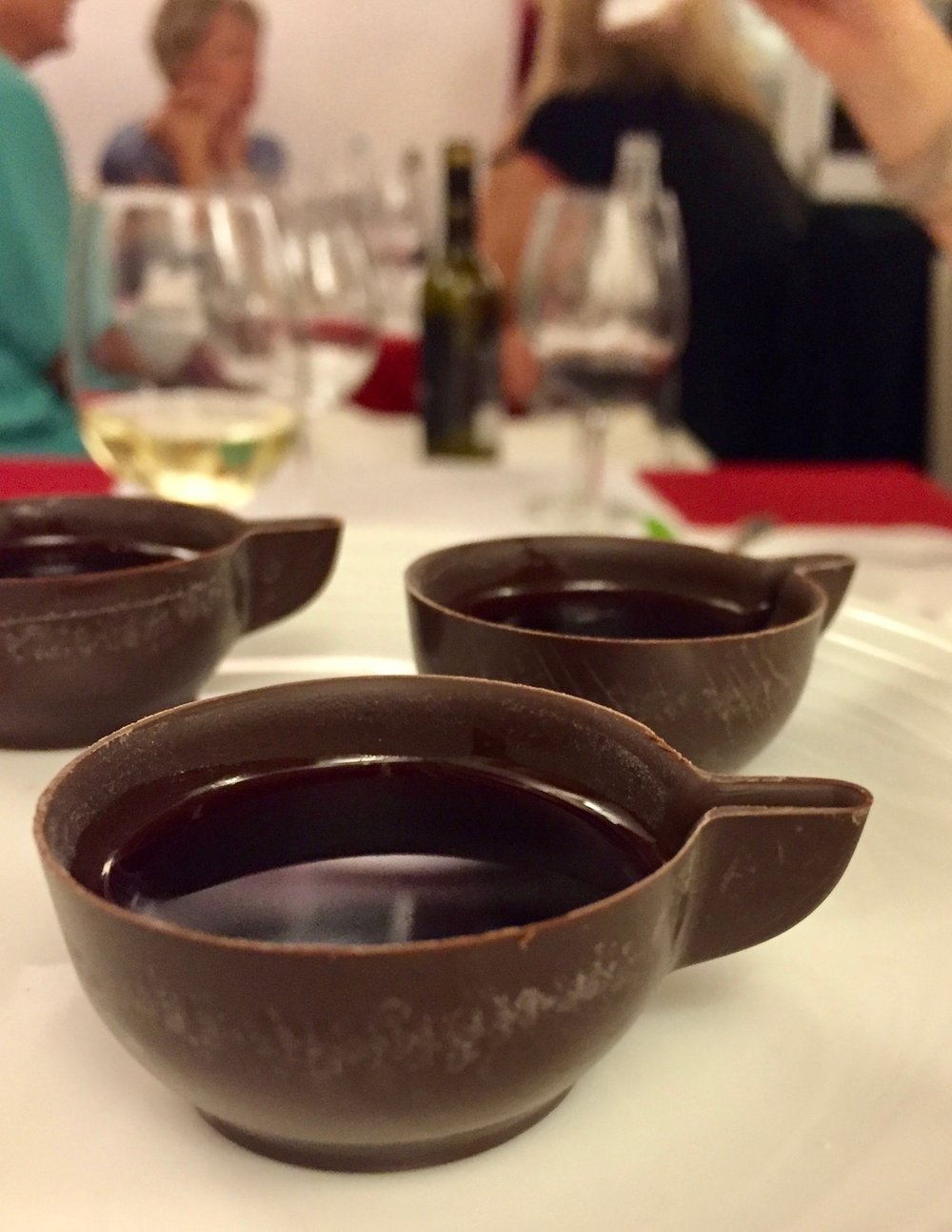 how to drink ginja: in a chocolate cup, of course