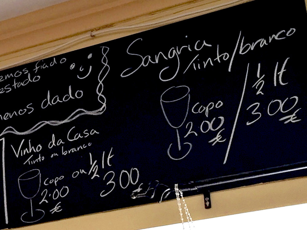 drink the €2/glass sangria!