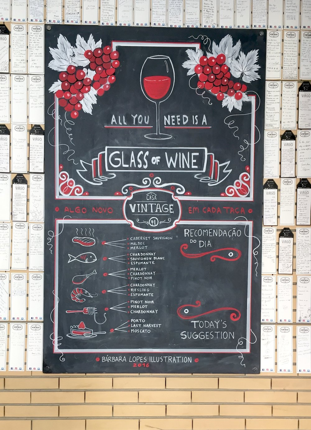 "agreed: ""all you need is a glass of wine"""