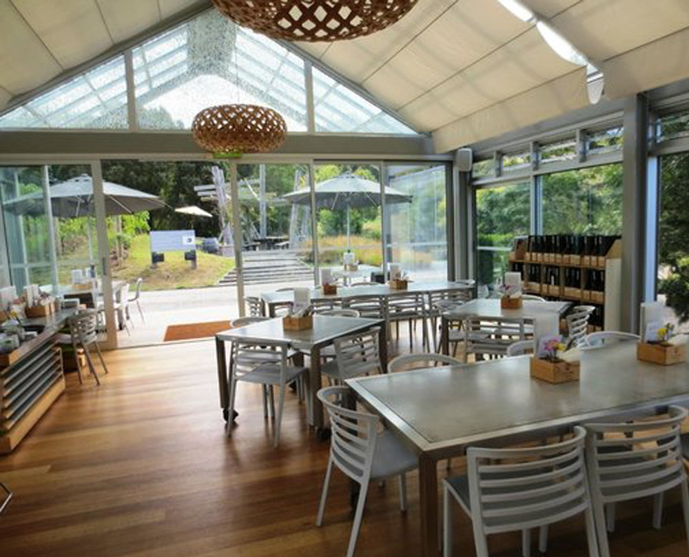 The Glasshouse Restaurant & Sculpture Trail                            at Brick Bay