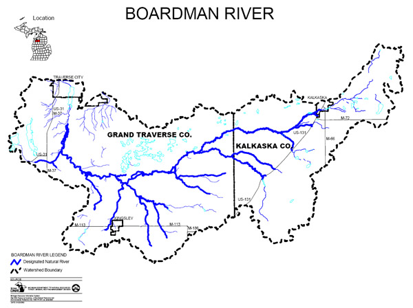 Boardman River map