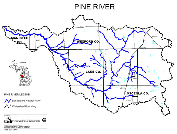 Pine River Map