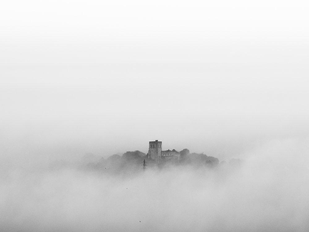 Ivinghoe Beacon on a foggy morning