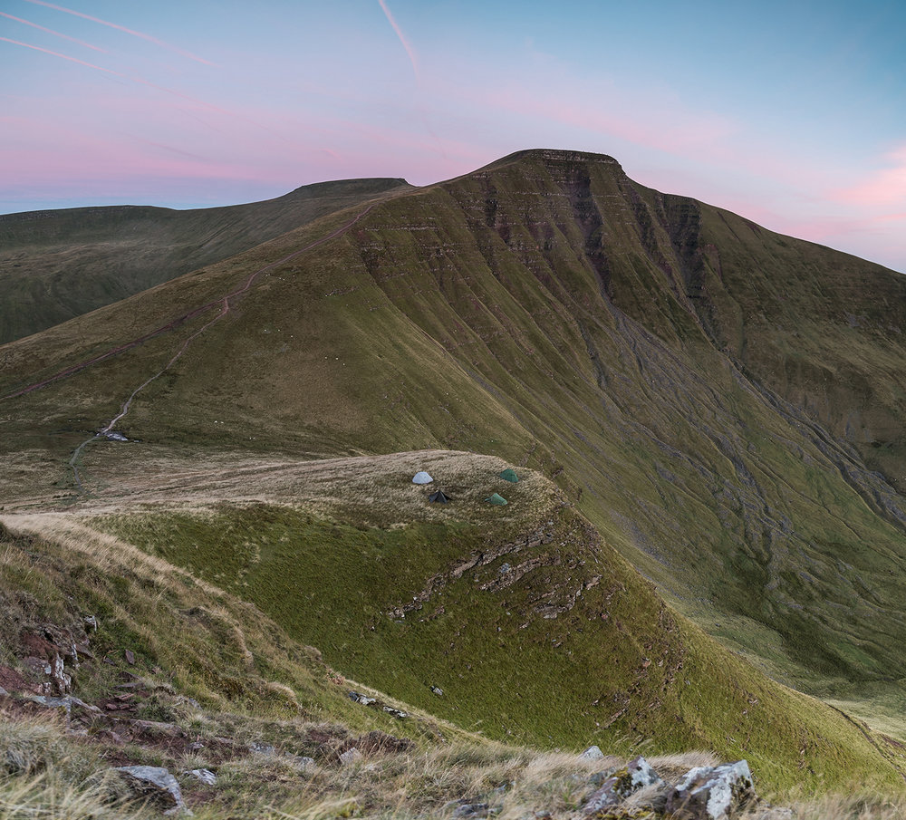 A night spent photographing the Perseid Meteor shower and camping under the shadow of Pen y Fan with Grant Hyatt, Jim Cossey and Gareth Danks