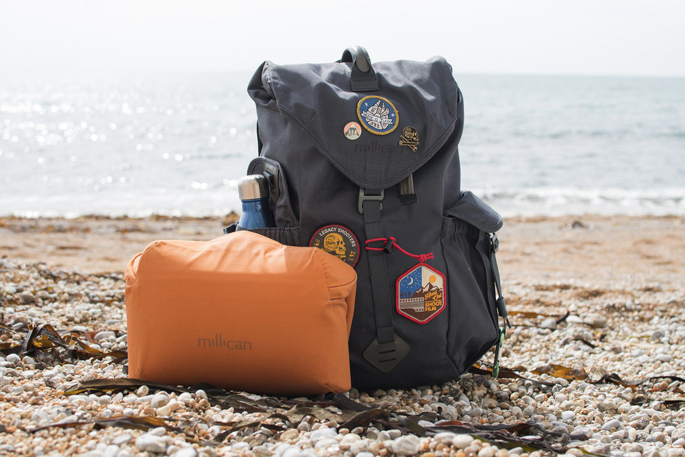 The smaller bag featured is the Millican Camera bag insert -  Review found here