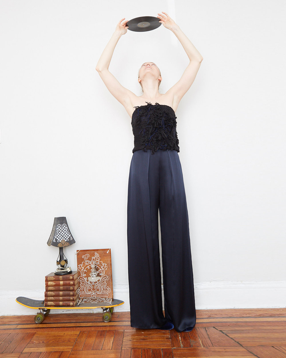 The Eiras Top - Handcut Fringe Tweed$270