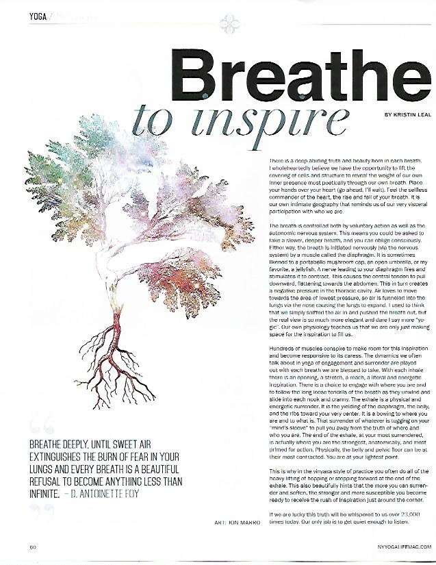 NY Yoga + Life Magazine