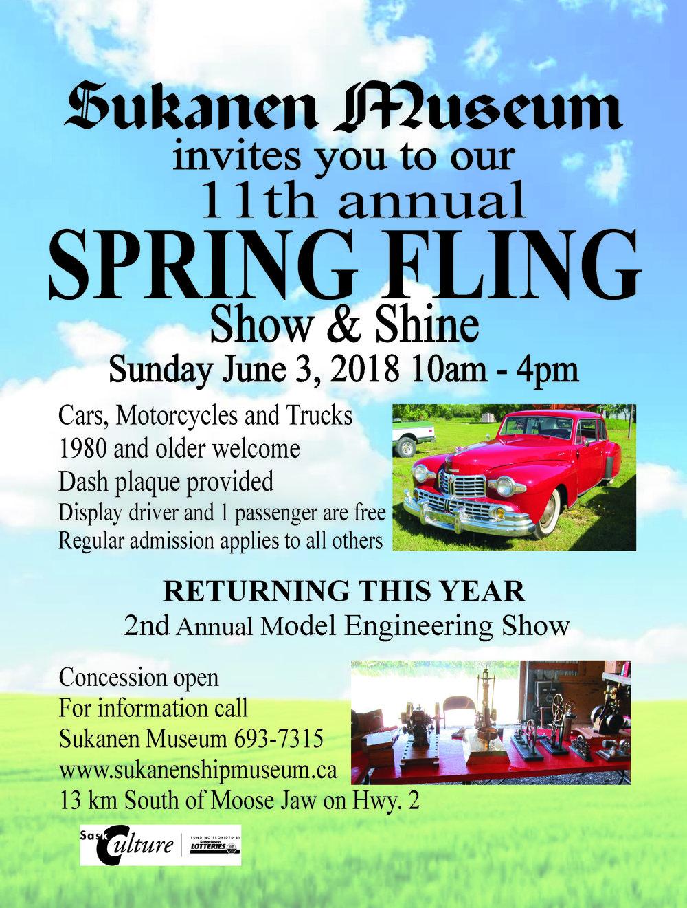 Sukanen Museum Th Annual Spring Fling Tourism Moose Jaw - Car show dash plaque display