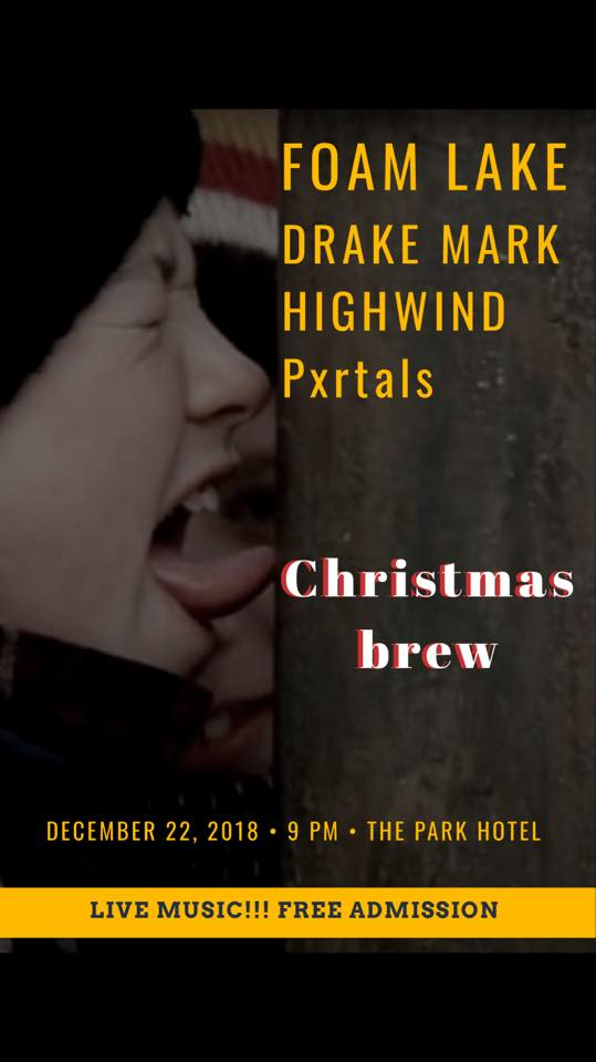Christmas Brew is coming back!!! Live bands all night long. You won't wanna miss this show!!  Foam Lake  https://foamlake1.bandcamp.com  Drake Mark & band  https://drakemark.bandcamp.com/track/dirty-little-son  Highwind  https://highwindmj.bandcamp.com  Pxrtals  https://m.facebook.com/thepxrtals/