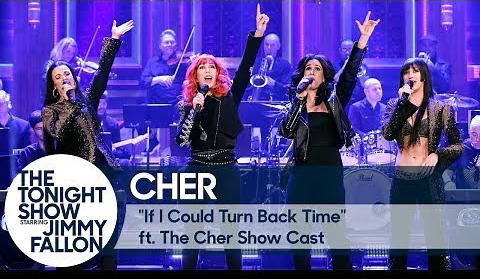 Cher  Sings  and  Chats  with the Ladies of  THE CHER SHOW  on NBC's Tonight Show